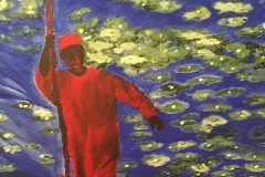 The-fisherman Acrylique sur toile